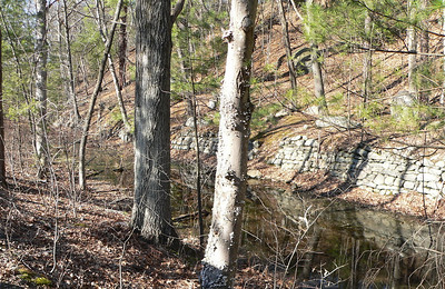 Remnants of the D&H Canal at Sparrow Bush, NY.
