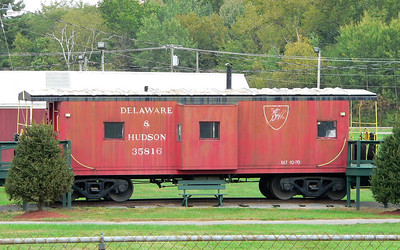 D&H caboose #35816 at the Washington (NY) County fairgrounds.
