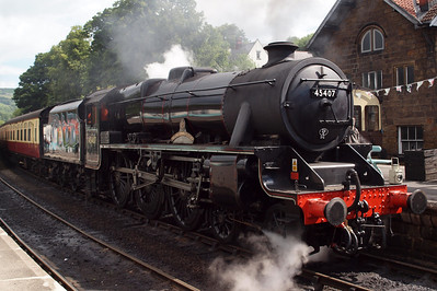 45407 sits with the 1030 Grosmont - Pickering at Grosmont.