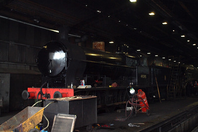 "The LNWR ""Super D"" sits in Grosmont shed."