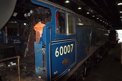 60007 Sir Nigel Gresley in Grosmont shed.