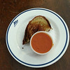 Leave it to Douglas to turn grilled cheese and tomato soup into a gourmet lunch.