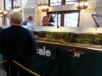 Mt Rainier N-scale model railroad.