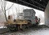 Transformer stored under Thomaston Avenue Bridge till PanAm shows up.<br /> <br /> Transformer delivery move @ Waterbury to ST/PanAM