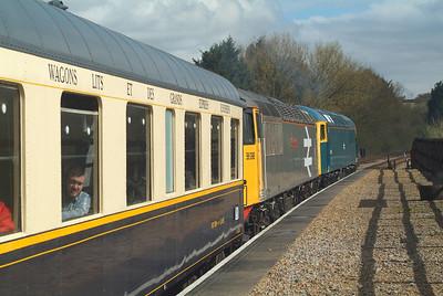 56006+56098 Yarwell Junction.  Ready for a mini-thrash through the tunnel.