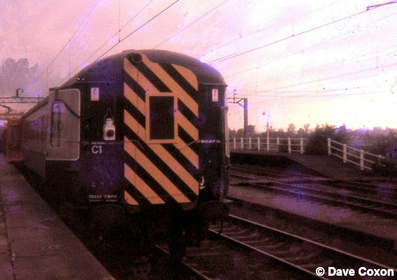 High speed passing tests Cheddington 1971