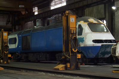 East Midlands Trains Class 43 HST power car under overhaul.