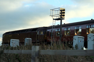 47245 and 99371 on the rear of an ECS move to Carnforth at Settle Junction.