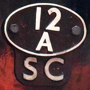 70013's 12A (Carlisle Kingmoor) shedplate.