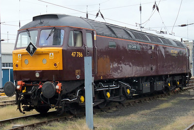 47786 Roy Castle OBE. Note the Carnforth depot plaque.