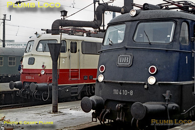 DB 110 410-8 & 112 500-4,  Köln Hbf , 4th April 1971