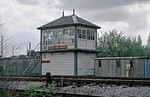 Acton Canal Wharf Signal Box, 26th  April 1996