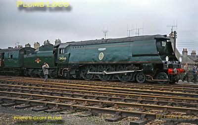 "34066 ""Spitfire"", Hailsham, 22nd March 1964"