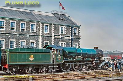 6000 'King George V', Return to Steam, Swindon Works, 7th October 1971