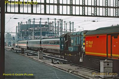 08625 & HST, St Pancras, 6th May 1989