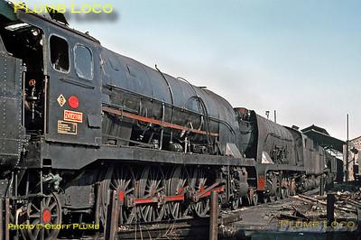RENFE 241F2108, Miranda de Ebro, 1st November 1969