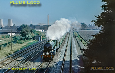 6000 'King George V', Return To Steam special, Milton, 7th October  1971
