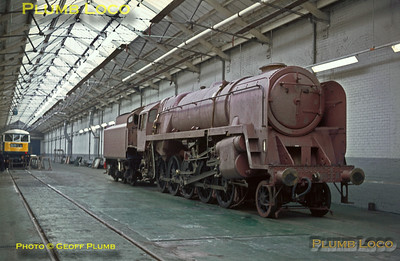 "92220 ""Evening Star"", Crewe Paint Shop, 14th February 1967"