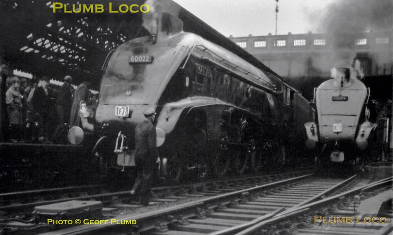 60022 & 60004,  Edinburgh Waverley, 2nd June 1962