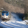 As the only train on the railroad, the Boston Section of the Lake Shore makes great time over the Berkshires on New Years Day.