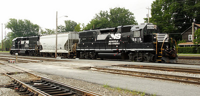NS 5619 and 5612 delivered 833 to Port Jervis on 7/27.