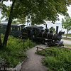 Former Monson Railroad No. 4 crosses Fort Allen trail in Portland, ME on 6/8/13.