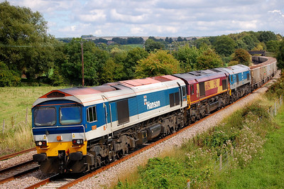 59101 66094 59002 7c77 1240 acton yard to merehead pass great cheverell 24 aug 2011.