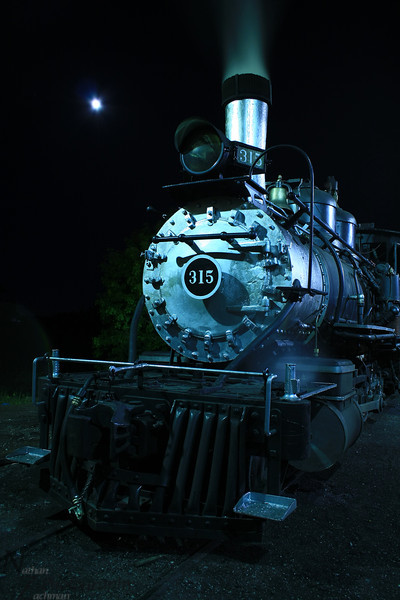 Rio Grande 315 under a Full Moon, Chama, New Mexico.