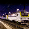 In fall 2010 1810 was running TBL1+ tests between Liege and Brussels on several weekends. Here the unit is seen parked with protection power 1337 and their train in Welkenraedt to await Sunday's activities in 5 degrees, a good northwesterly wind, and driving rain.