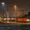185 366 waiting to depart Aachen West with the 44525 (Antwerpen-Noord/B - Gremberg).