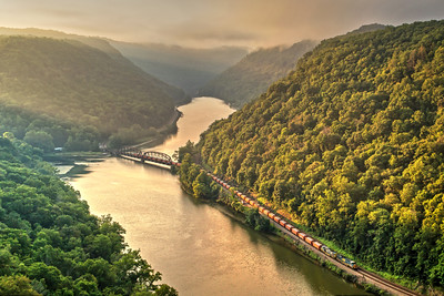 First Light in the New River Gorge