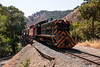 Southern Pacific #1423 crosses Farwell Bridge as she heads back to Sunol a second time.