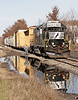NS 5611 back on the point after servicing Rowley Lumber. Ready to proceed West (RR North??) to the M&NJ to exchange plastic pellet cars for Genpak.