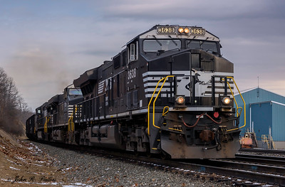 Norfolk Southern locomotive NS 3638, train NS 17G