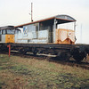Ridham Sidings on 20/01/92 and 47377 visits with DOO trial test trip.