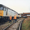 Its January 1992 at Gillingham Down Sidings (adjacent to the Chatham Dockyard branch) and 47377 has been commandeered to run a DOO trial test trip to Quenborough and Ridham Sidings.