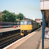 33050 arrives at Gillingham (Kent) with the 09 55 Hoo Junction to Chatham Dockyard on 05/07/91.