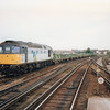 Gillingham (Kent) Down Sidings on 18/09/91 sees 33064 with the 15 15 Chatham Dockyard to Hoo Junction conveying contaminated rubbish en route to the landfill site at Forders (Bedfordshire).