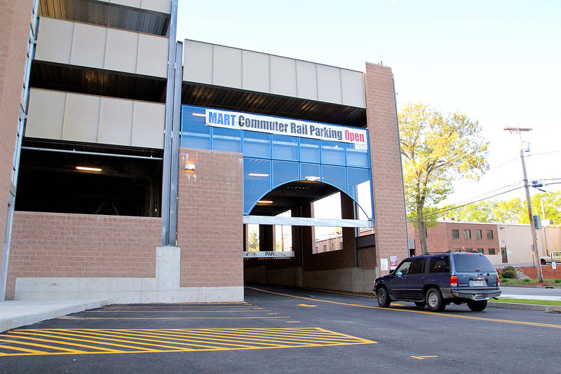 The new North Leominster Train Station Garage was opened on Tuessday morning around 6 a.m. SENTINEL & ENTERPRISE/JOHN LOVE