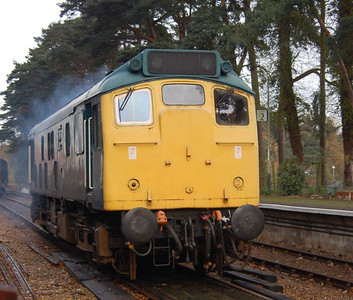 25057 at Holt after arrival with the 1100 from Sheringham.