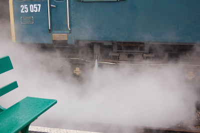 25057 letting off steam at Sheringham.