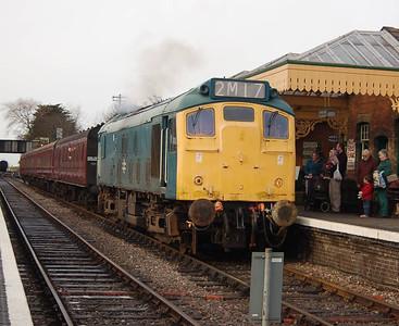 25057 at Sheringham, heading for the headshunt.