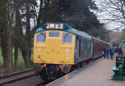 One last look at 25057 before the last departure of the day, the 1530 from Holt.