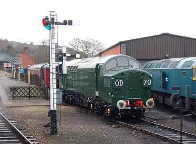 Also taken from the train was this shot of D6732 at Weybourne