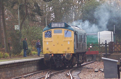 25057 just leaving the headshunt at Holt.