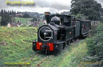 "Welshpool & Llanfair Light Railway. Beyer, Peacock 0-6-0T No. 1 ""The Earl"" (GWR & BR No. 822) pulls away from Cyfronydd station with a train from Castle Caereinion to Llanfair Caereinion during the early days of preservation, the line having closed in 1956. Saturday 31st August 1963. Slide No. 355."