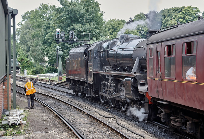 LMS Stanier Black Five (45212) at Pickering Station on 28 July 2008