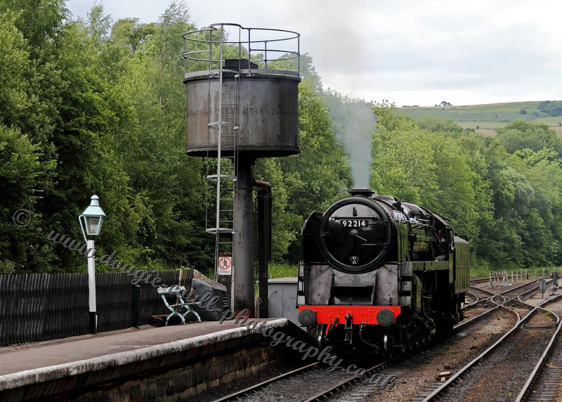 92214 at Grosmont Water Tower