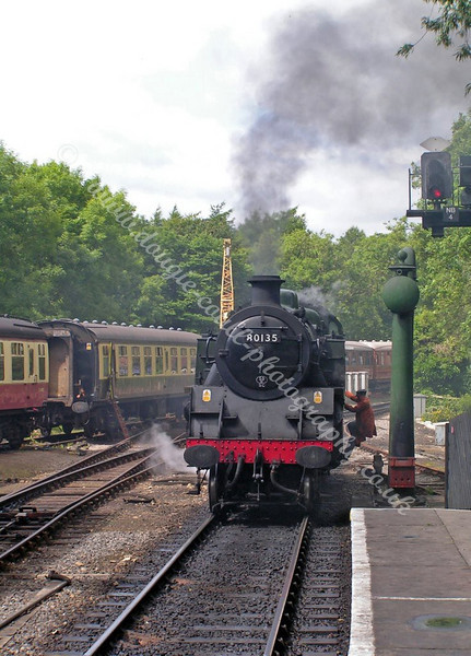 80135 approaching Pickering Station