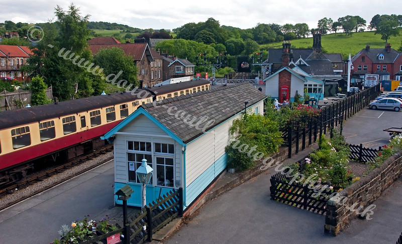 Looking Down on Grosmont Station - NYMR